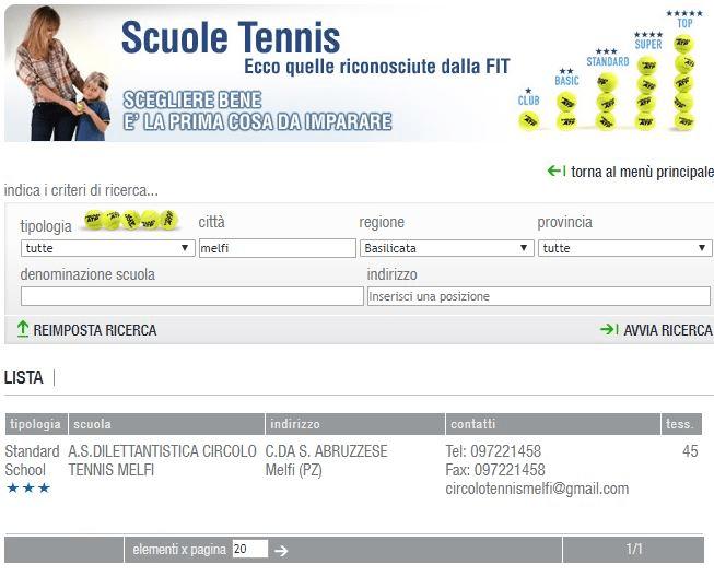 belle scarpe vendita calda a buon mercato fornire un'ampia selezione di Scuola Tennis - Circolo Tennis Melfi