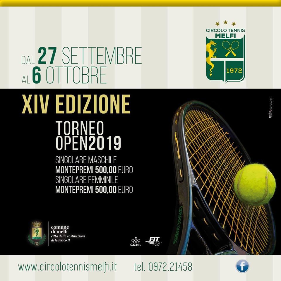 XIV edizione Torneo Open città di Melfi